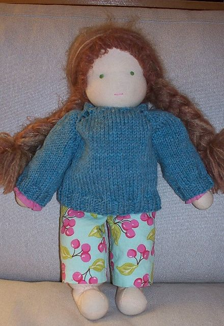 Ravelry: Pull-Over for 16in Waldorf Dolls pattern by Jennifer LaVoie