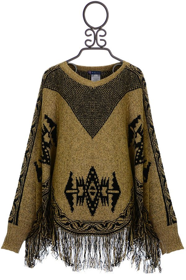 Truly Me Girls Poncho with Fringe