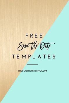 Where to find free save the date templates and a tutorial on how to make free DIY save the date cards for your wedding.