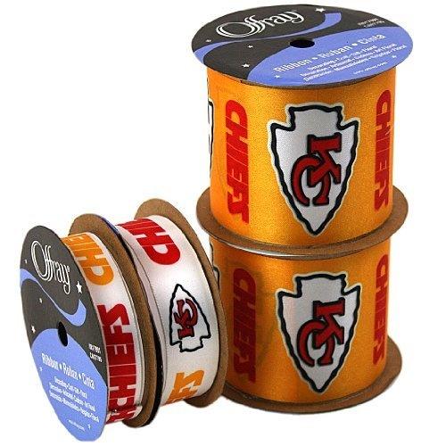 Offray NW7258AZ Kansas City Chiefs Printed Craft Ribbon Pack, 12 Yard By  Offray, · Yard FurnitureFurniture DealsKansas ...