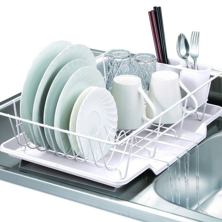 Keep Counters Neat With This Compact, Space Saving Dish Drainer. Designed  To Fit Snugly Next To The Sink, The Bottom Tray Prevents Water From Pooling  On ...