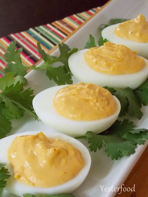 Yesterfood : Chipotle Deviled Eggs | Appetisers & Nibbles | Pinterest