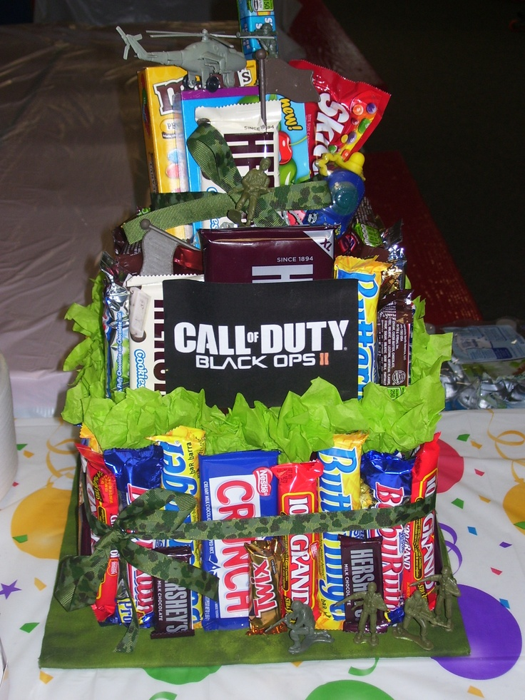 Black Ops 2 Candy Bar Cake I made my son for his Birthday Party. <3