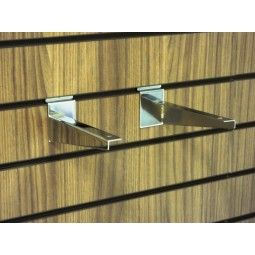these brackets simply slot directly into your slatwall panel or slatwall display units a choice of slatwall shelves are available in wood finishes or