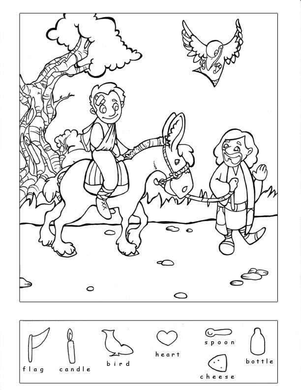 Samaritan & 9 other Bible story hidden puzzles coloring | Children ...