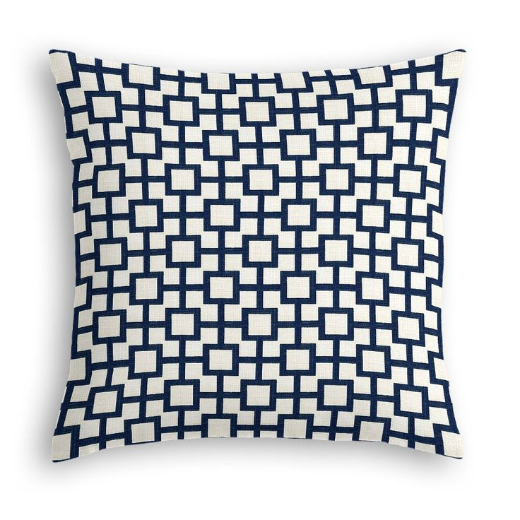 Navy blue square trellis throw pillow loom decor master bedroom pinterest loom decor Master bedroom throw pillows