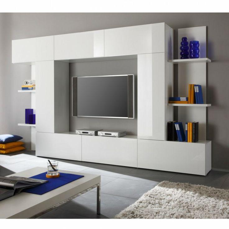 wohnwand dodi wei hochglanz 770 euro - Ikea Home Planer Wohnzimmermobel