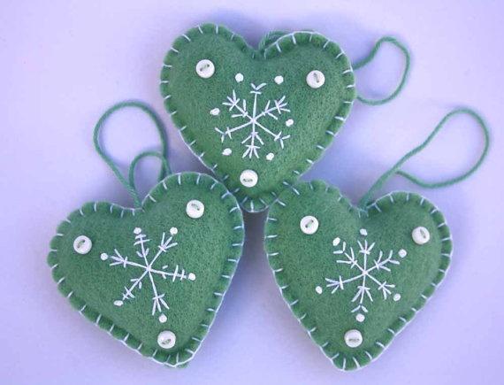 Felt Christmas Heart decorations
