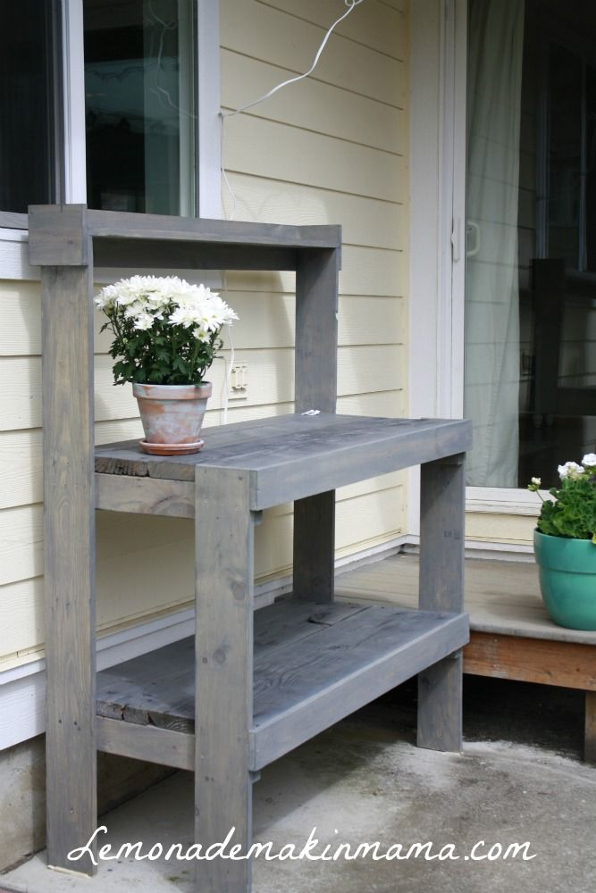 DIY Food Serving Table Plans (for The Patio!) I Can See This With