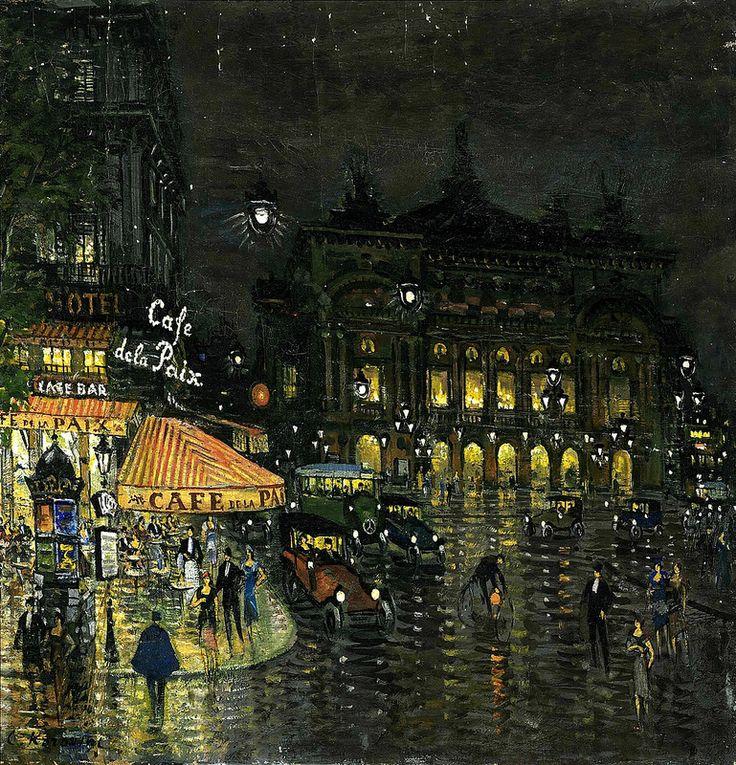 Константин Коровин - Константин Коровин - Кафе де ля Пэ, Париж