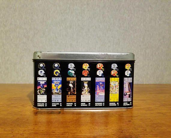 NFL Limited Edition Super Bowl XXV Commemorative tin 1990 NFL