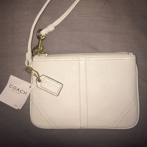 BRAND NEW Coach Wristlet Brand new authentic Coach wristlet!! Never been used! Coach Bags Clutches & Wristlets