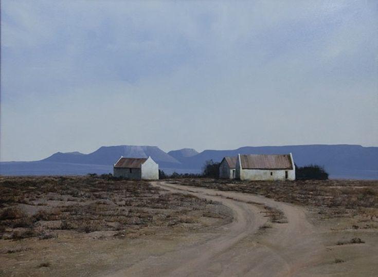 Karoo painting Image entitled 'Shearing Sheds'