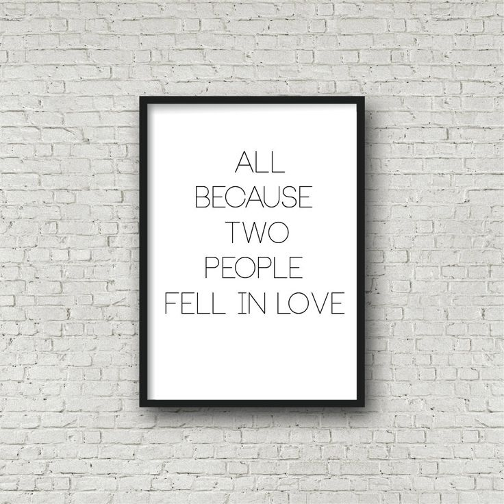 All because two people fell in love by Printce on Etsy