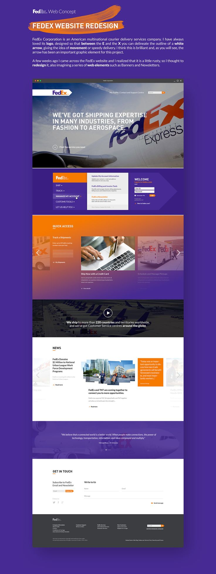 FedEx Web Concept on Behance (con imágenes) S. a