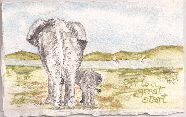 Watercolour by Faye Blondin - greeting card
