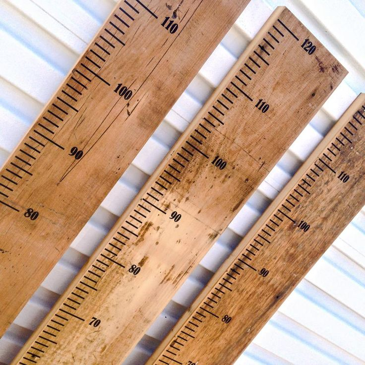 Reclaimed timber height charts - 1200mm or 1800mm