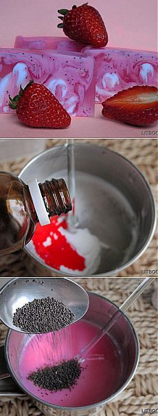 Как сделать клубничное мыло-скраб из основы для свирлов Crystal Suspending. Свирлы в мыле – один из наиболее популярных способов украшения мыльного кусочка. Сколько бы ни приходилось делать мыло по одному и тому же рецепту, каждый раз результат будет уникальный и неповторимый. Мы рассказывали, как сделать фруктовое мыло со свирлами из обычной мыльной основы.