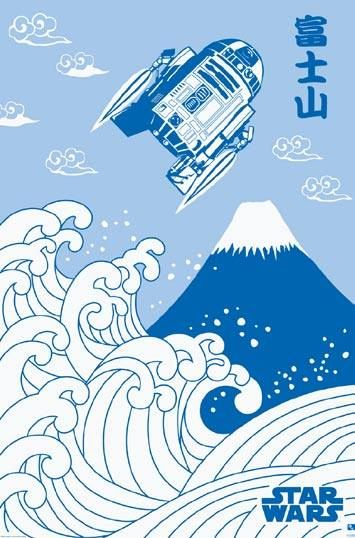 和柄(Japanese pattern) スターウォーズ STAR WARS(ルーカスフィルム監修) 和柄ポスター 富士山 http://item.rakuten.co.jp/posterbin/1468596/#1468596