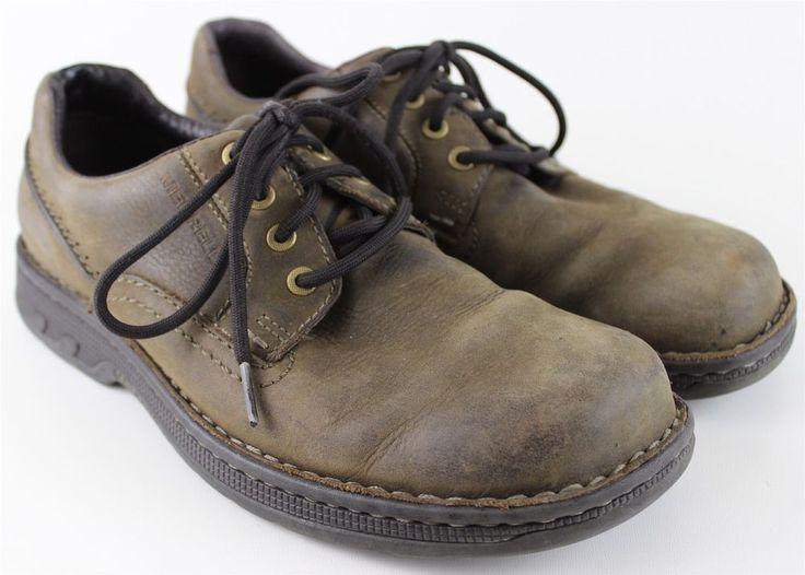 Merrell World Rambler dark earth brown leather upper oxford mens shoe sz  9.5 #Merrell #