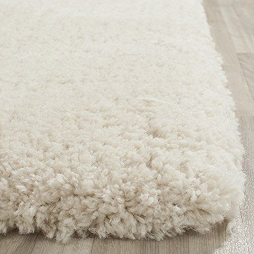 safavieh artic shag collection sg270v handmade beige polyester square area rug 5 feet square