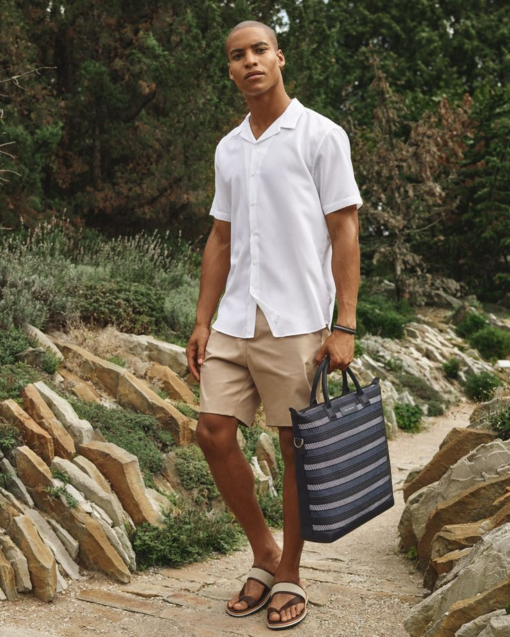 Ohare Tote Bag in Blue Cord and Mateos Sandal