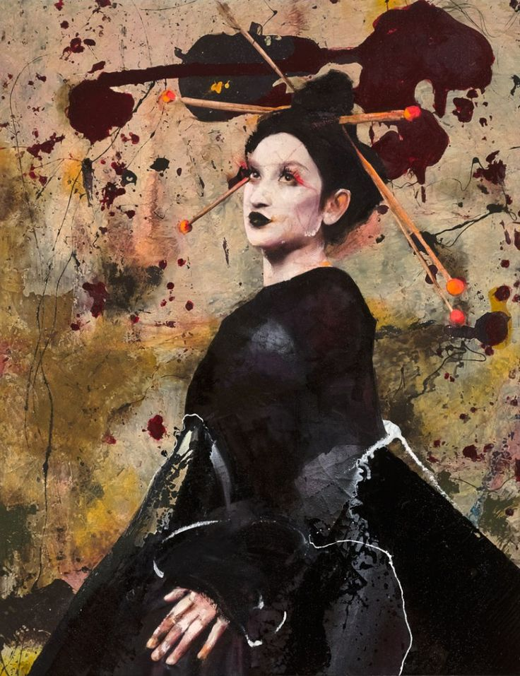 Lita Cabellut - Impressions of Asia 03; mixed media on canvas; 260x200 cm