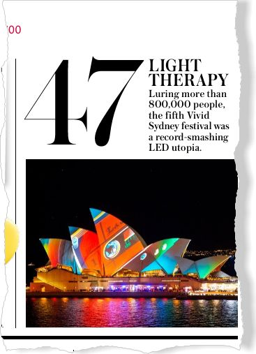 Sydney's Vivid Festival. Clipped from InStyle using Netpage.