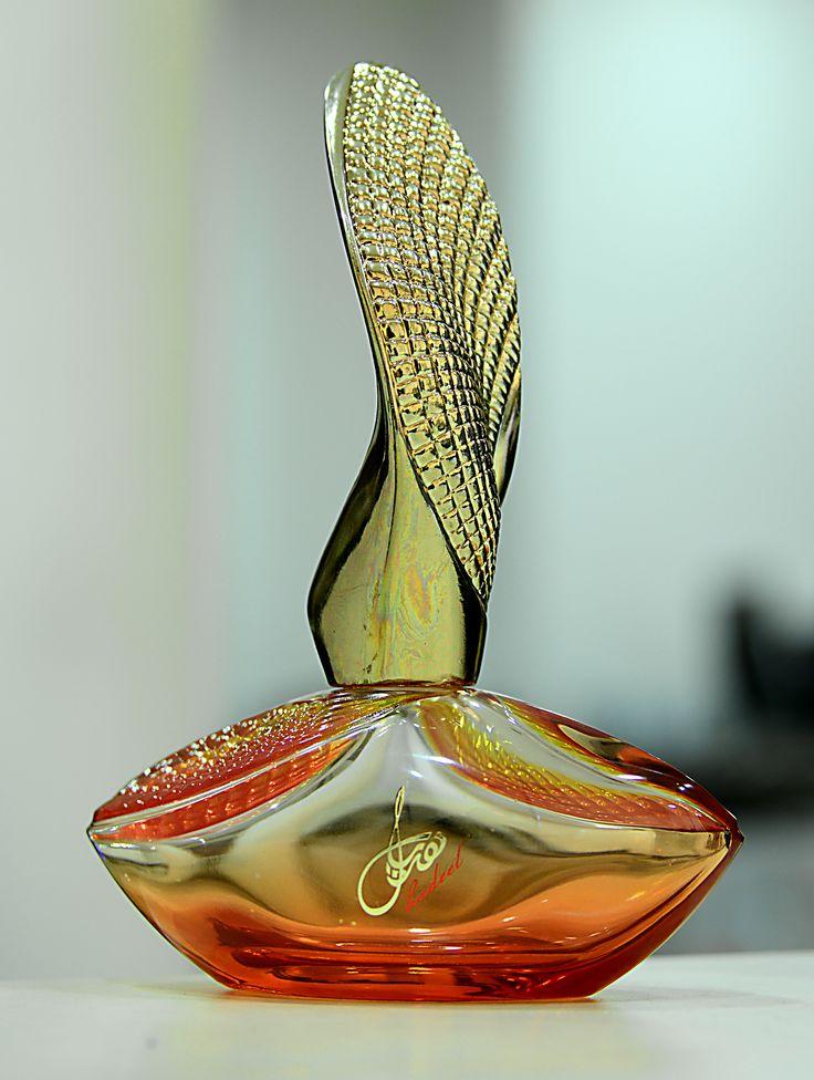 Perfume. Bottle decoration.
