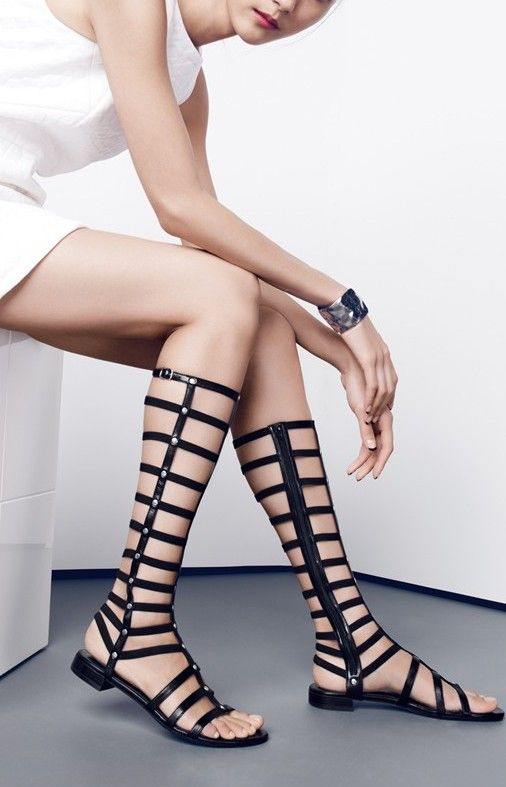 Dare to wear gladiator sandals.
