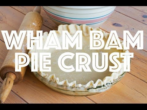 Wham Bam Pie Crust - The Country Cook
