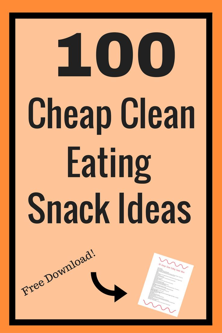 Are you looking for healthy snack ideas?  Here is a list of 100 clean eating snack ideas plus a free download!  This is a great list of snack ideas!