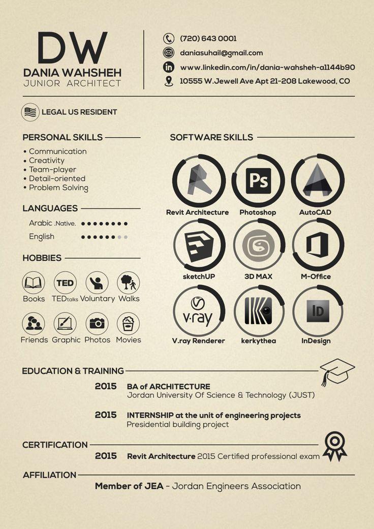 ... 25+ Unique Architect Resume Ideas On Pinterest Curriculum Design   Architecture  Resume ...  Architecture Resume