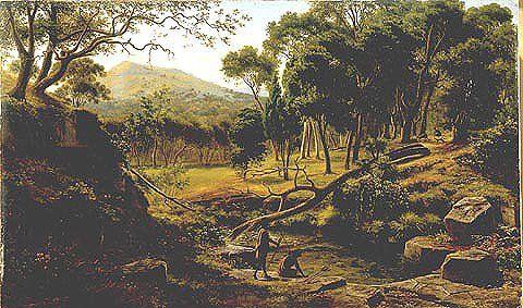 Warrenheip Hills Près de Ballarat de Eugene Von Guerard (1811-1901, Austria)