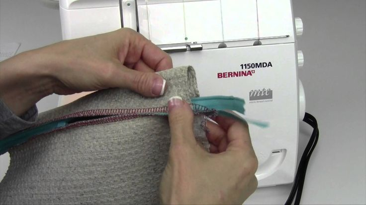 Bernina Serger 1150 34 Serging a Zipper
