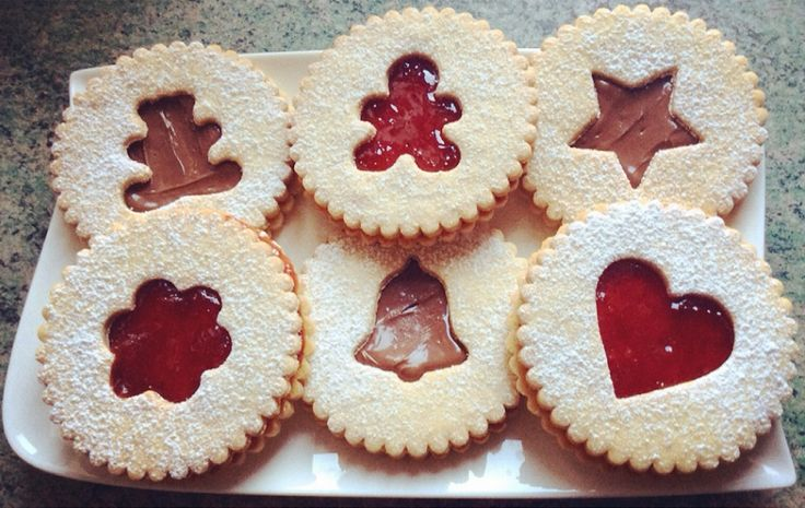 Biscuits sablés confiture Nutella caramel