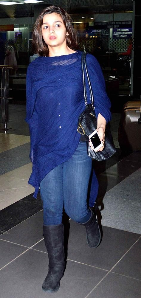 Alia Bhatt spotted at the airport.