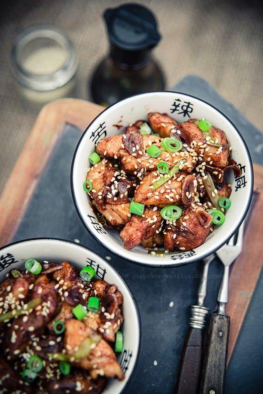 pieprz czy wanilia fotografia i kulinaria: Czosnkowy kurczak według Goka