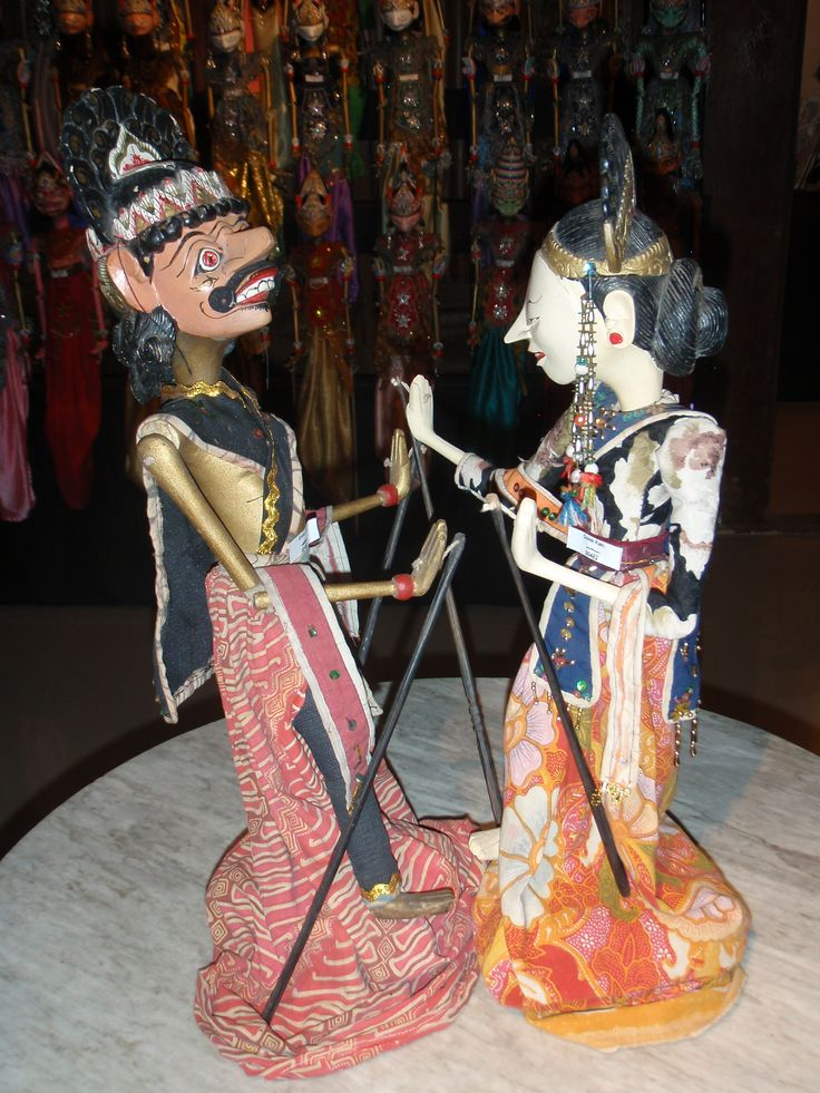 Javanese stick puppets.