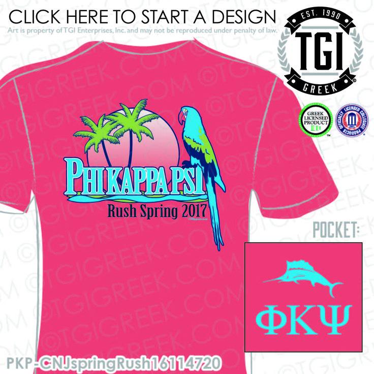 Phi Kappa Psi | ΦΚΨ | Spring Rush | Spring Rush Shirt | Fraternity Spring Rush | Custom Fraternity Apparel | TGI Greek | Greek Apparel | Custom Apparel | Fraternity Tee Shirts | Fraternity T-shirts