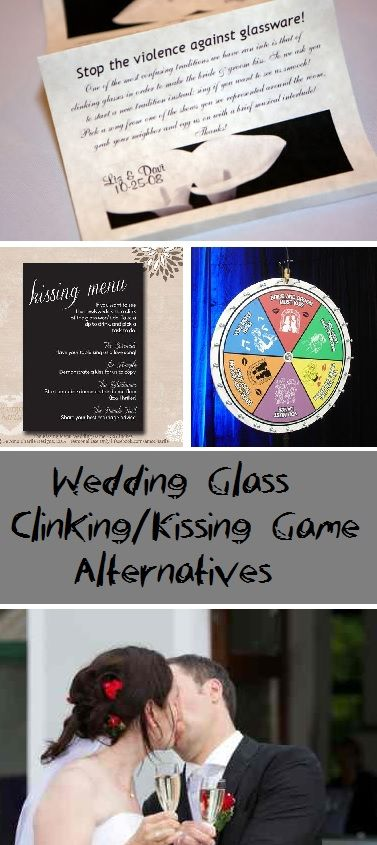 Check out this thorough list of wedding glass clinking/kissing game alternatives, compiled by San Diego DJ Staci. Includes photos.