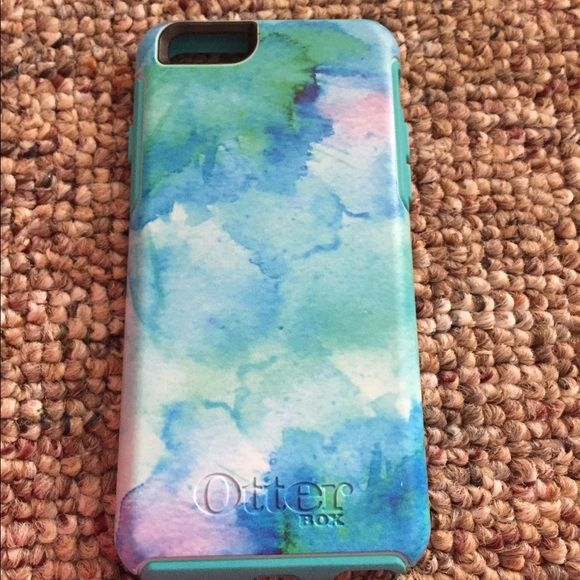 iPhone 6/6S otter box Pastel watercolor design, fits for an iPhone 6 or 6S. Never used! Otter box commuter series! OtterBox Accessories Phone Cases