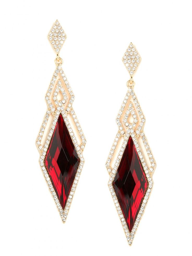 Ruby, earrings