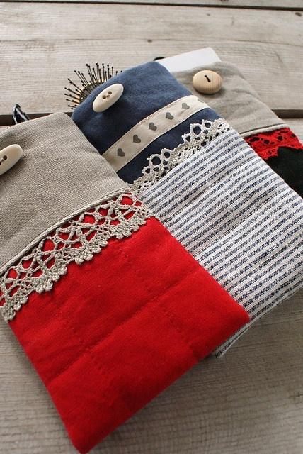 cases from linen by SandraStJu, via Flickr