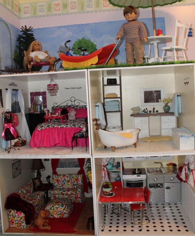 184 Best Doll Houses Images On Pinterest American Girl Dollhouse