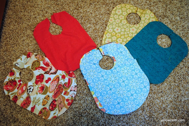Mommy is coo coo how to make a baby bib out of fabric remnants