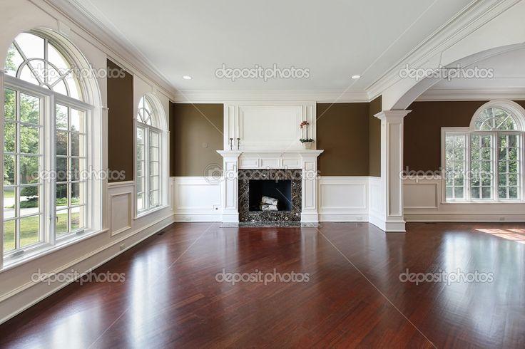 Living comedor con pisos de madera de cerezo — Imagen de stock #8682591