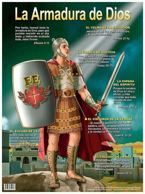 Efesios 6:11-13 Vestíos de toda la armadura de Dios, para que podáis estar…