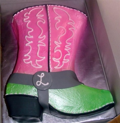 Wedding Shower Cowgirl Boot By Cheneya on CakeCentral.com
