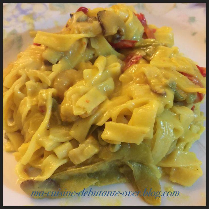 Tagliatelles duo saint jacques crevettes